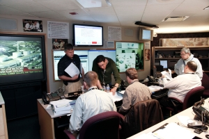 NRC staff in HQ Operations Center