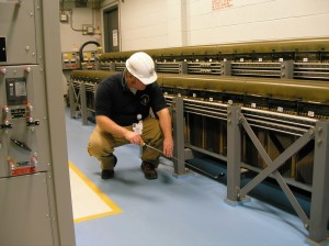 NRC Resident Inspector Douglas Dodson  is always looking closely at systems at the Ginna nuclear power plant.