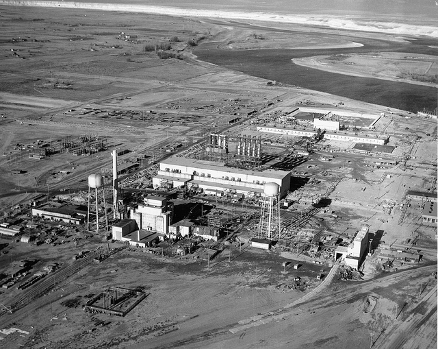 Crud was a term used early by the Hanford Engineering Works. Seen here is the site's F Reactor complex under construction. Photo courtesy of the Department of Energy