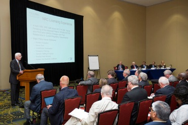 Last month's workshop included presentations on the NRC's experience licensing non-light water designs, as well as discussions of proposed advanced reactor designs.