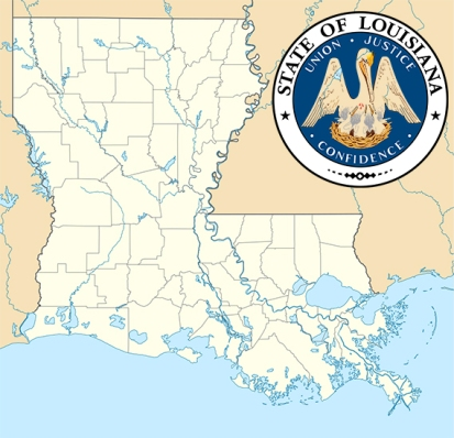 louisiana map_seal